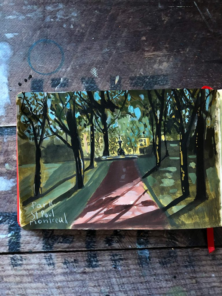 Sketch of the St-Paul Park in Montreal