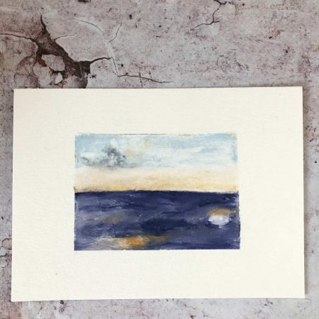 Oil Landscape on 7 x 5 inches